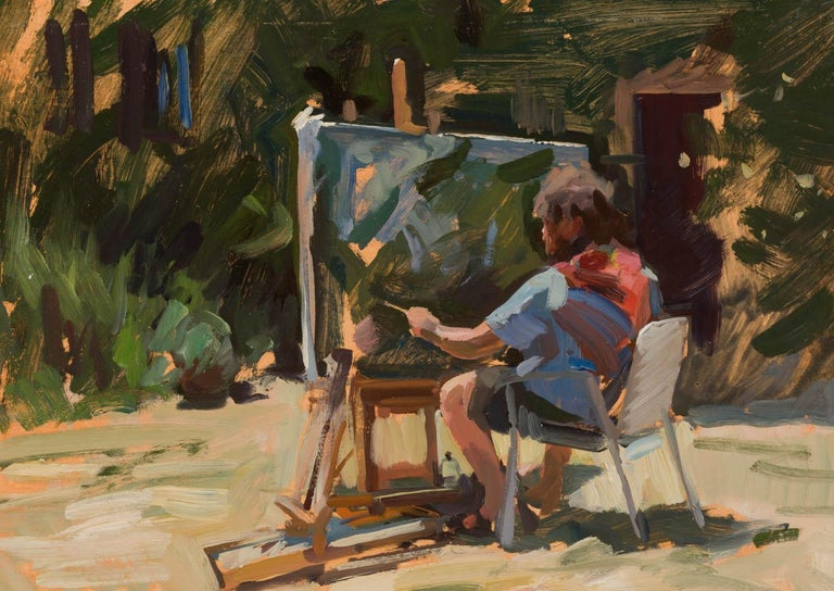 Marc Dalessio Figurative Painting - Ben Painting