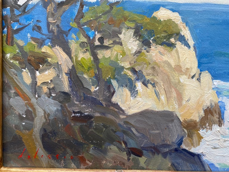 North Point  - Gray Abstract Painting by Marc Dalessio