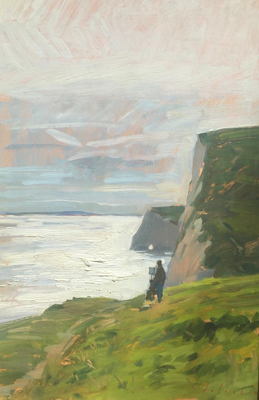 Painter on the Jurassic Coast