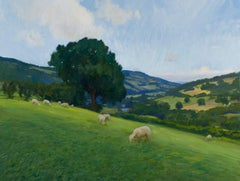 The Vale of Usk, Oil on canvas, Framed