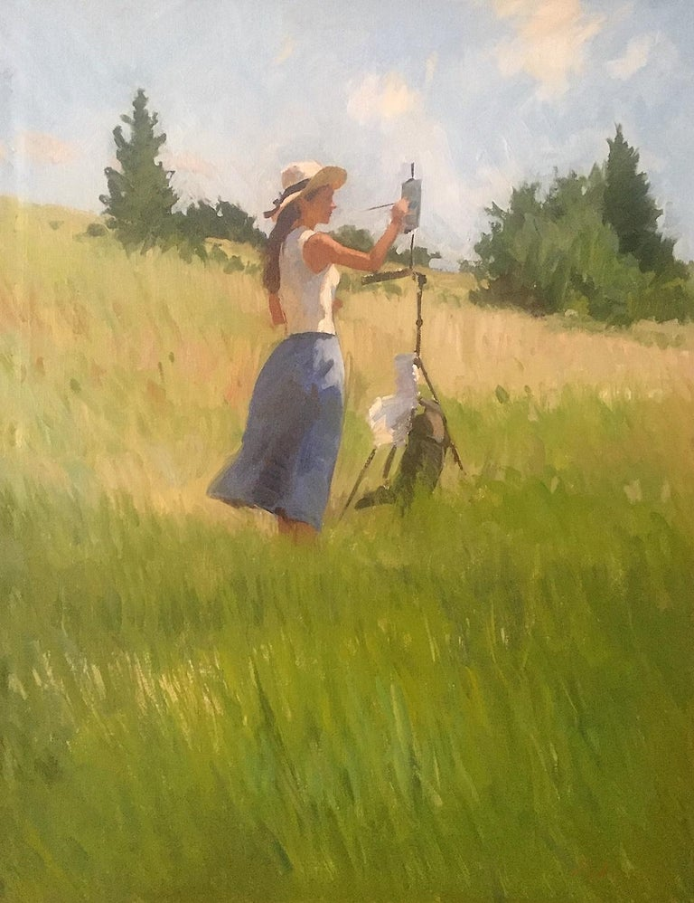 Marc Dalessio Landscape Painting - Tina Painting, Hillside