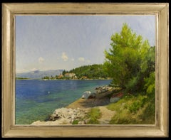 View of the sea of the island of Vrnik in Croatia