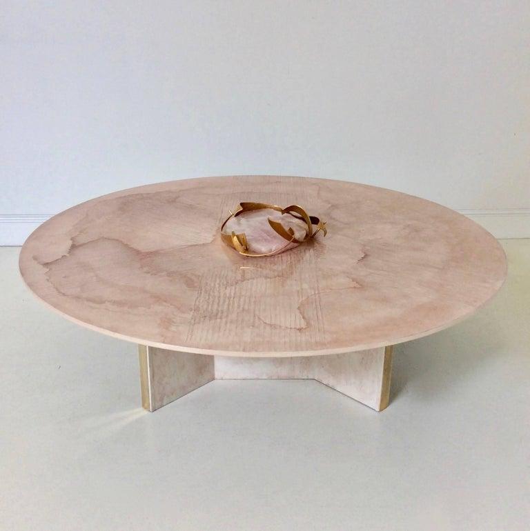 Late 20th Century Marc D'Haenens Unique Coffee Table with Pink Quartz, circa 1980, Belgium For Sale
