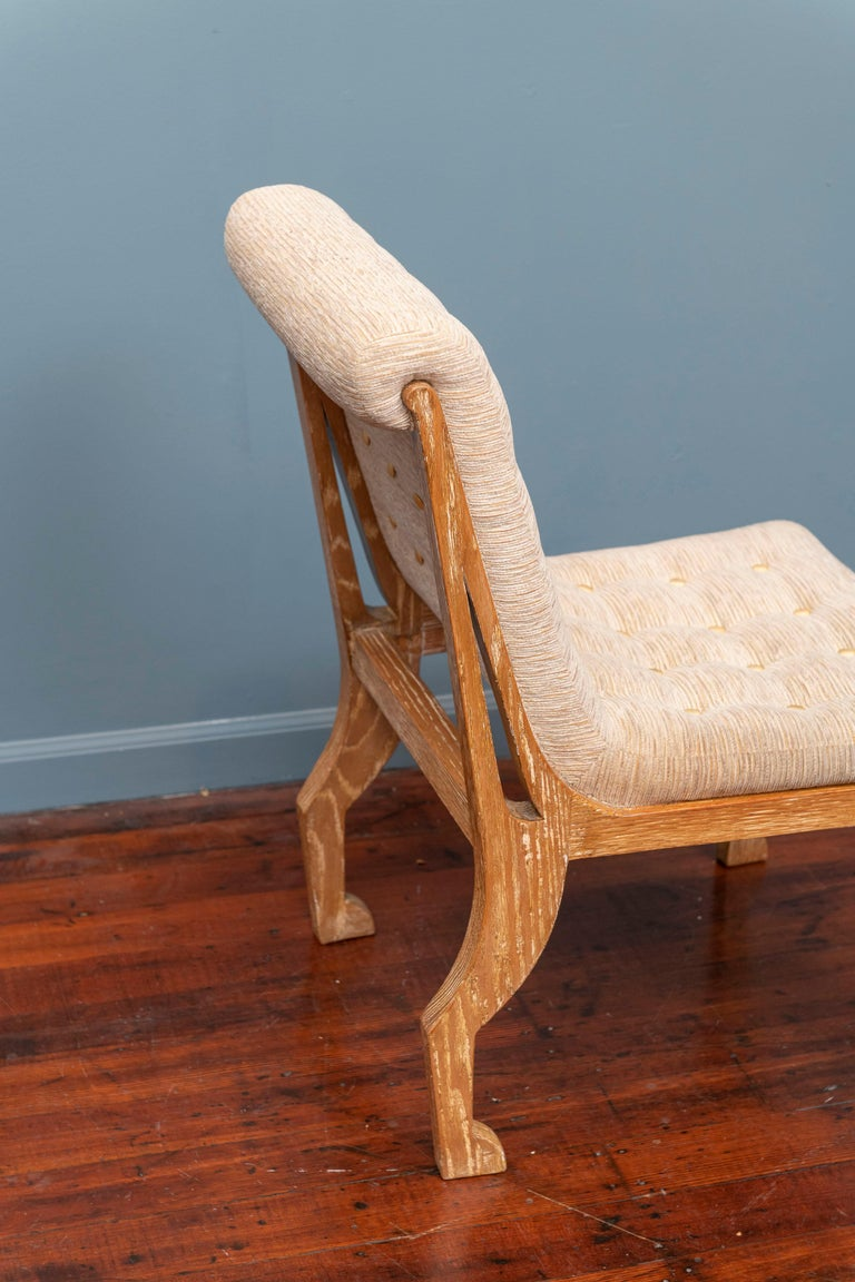 Mid-20th Century Marc du Plantier Style Slipper Chair