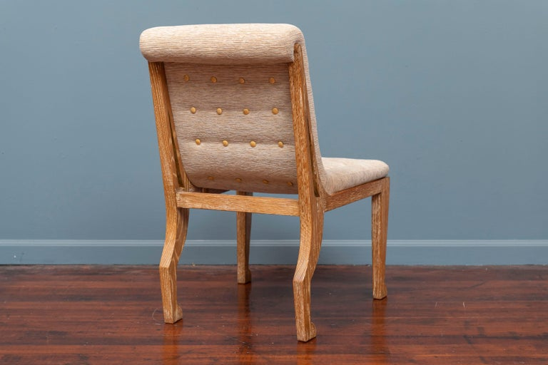 Oak Marc du Plantier Style Slipper Chair