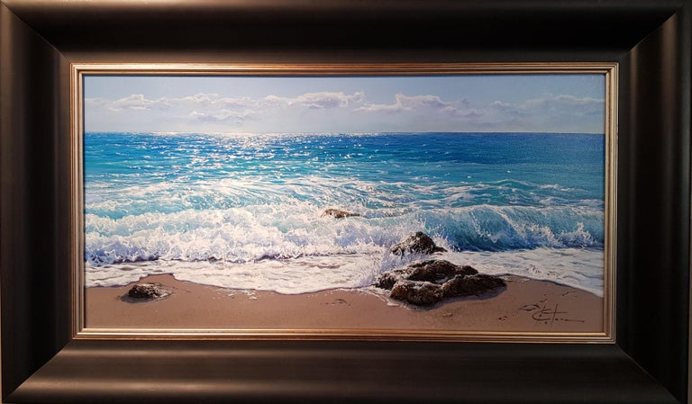 Photo- Realist Contemporary Seascape Painting by Marc Esteve 'Water's Edge' 1