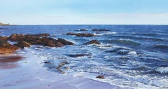 Photo Realist Contemporary Seascape Painting 'Retreating Tide'