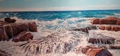 Realist Contemporary Seascape Painting by Marc Esteve 'Ebbing Tide' Beach