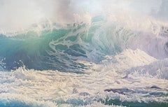 'Surf's Up' A bright & powerful seascape, contemporary and hyperrealist in style