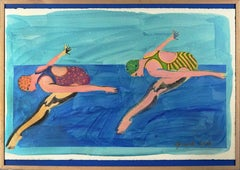 Synchronized Swimmers Abstract Expressionist