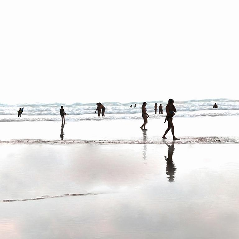 Plage 80 - 21st Century, Contemporary, Beach Landscape Photography - Gray Landscape Print by Marc Harrold