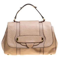 Marc Jacobs Beige Leather Thompson Top Handle Satchel
