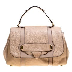Marc Jacobs Beige Leather Thompson Top Handle Satchel