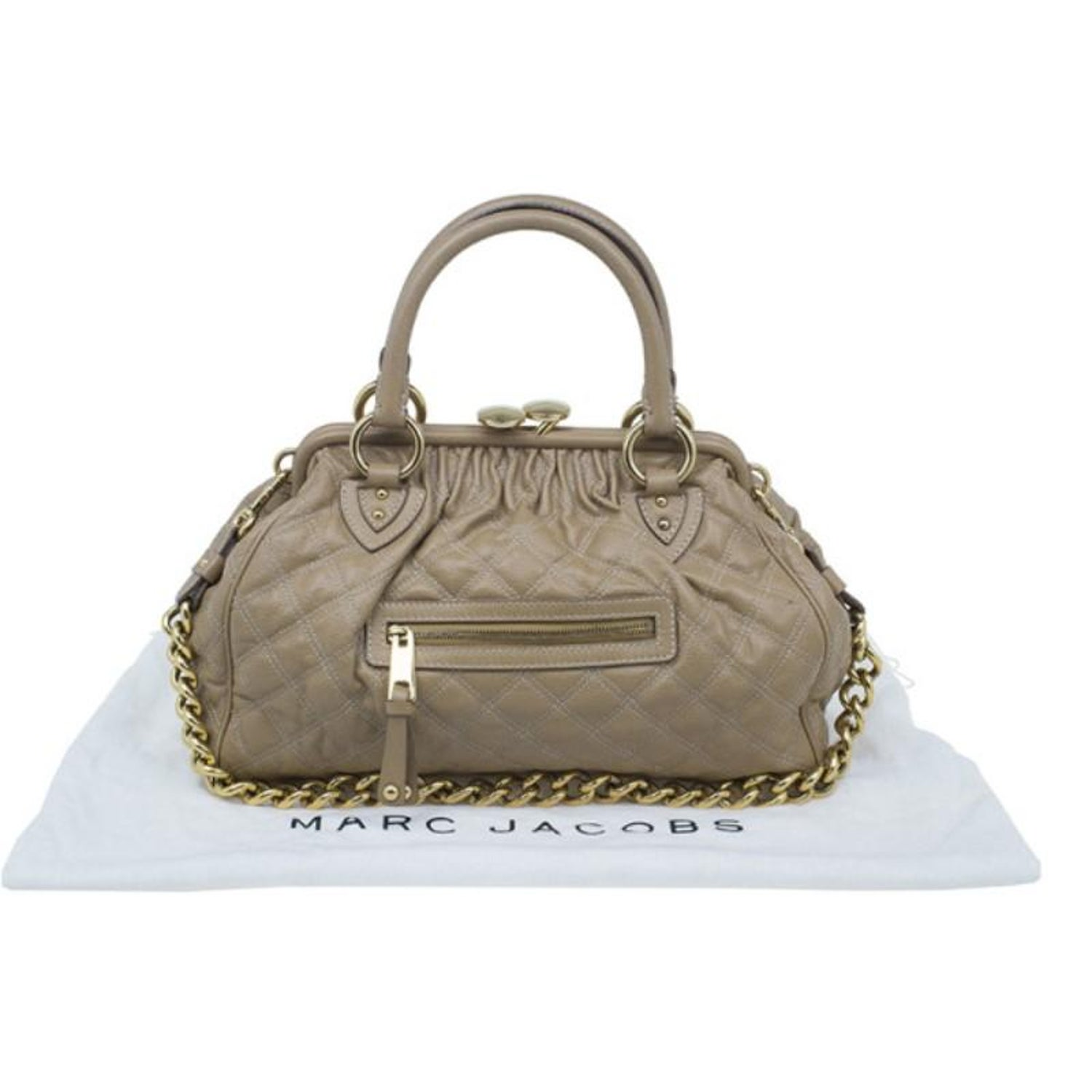 3a14554dafd1 Marc Jacobs Beige Quilted Leather Stam Bag For Sale at 1stdibs