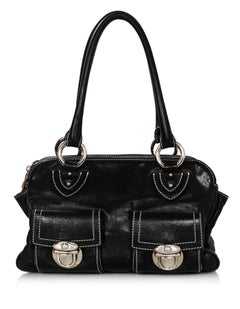 Marc Jacobs Black Leather Blake Bag with Dust Bag