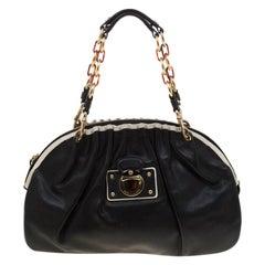 Marc Jacobs Black Leather Capra Satchel