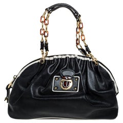 Marc Jacobs Black Leather Capra Satchel