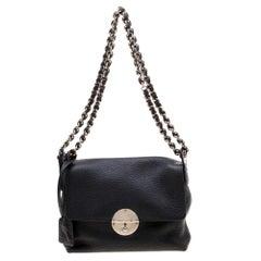 Marc Jacobs Black Leather Flap Chain Shoulder Bag