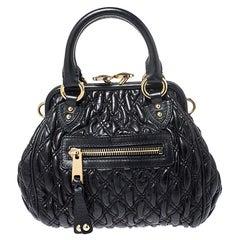 Marc Jacobs Black Leather Mini Stam Shoulder Bag