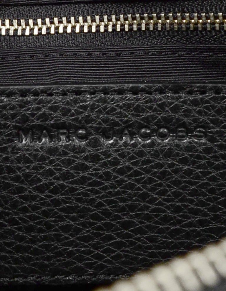 Marc Jacobs Black Leather Star Embroidered Boston Bag NWT rt $495 4
