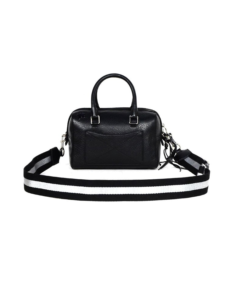 Women's Marc Jacobs Black Leather Star Embroidered Boston Bag NWT rt $495
