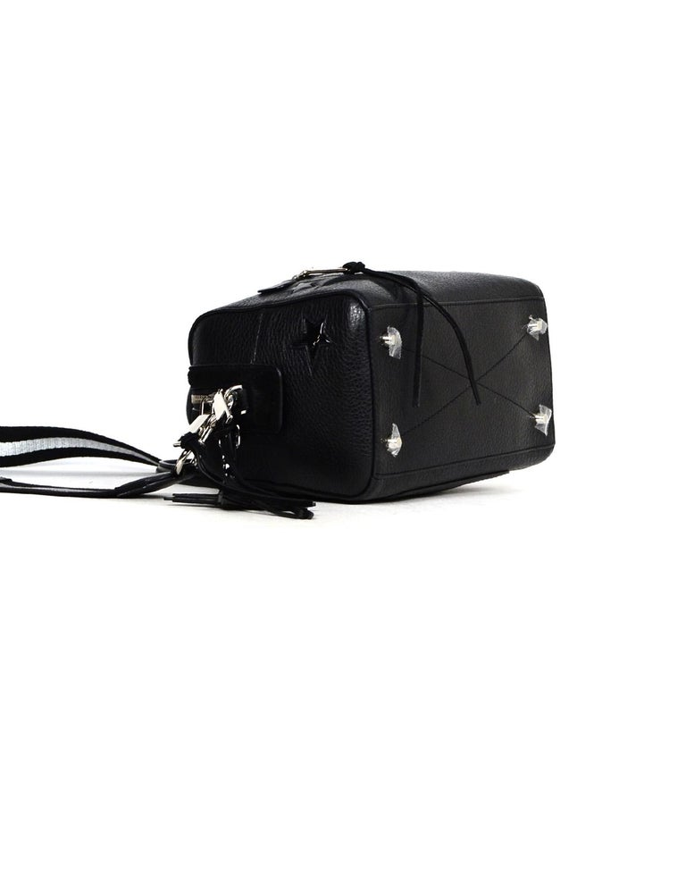 Marc Jacobs Black Leather Star Embroidered Boston Bag NWT rt $495 2