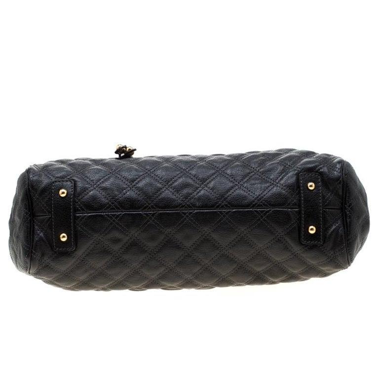 Marc Jacobs Black Quilted Leather Stam Shoulder Bag For Sale 5