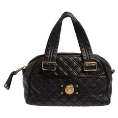 Marc Jacobs Black Quilted Leather Ursula Bowler Bag