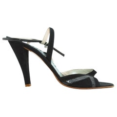 Marc Jacobs Black Strappy Evening Sandals