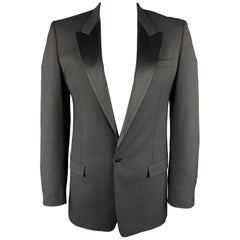 MARC JACOBS Black Wool Peak Lapel Chest Size 42 Sport Coat Jacket