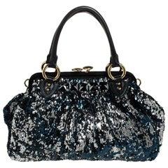 Marc Jacobs Blue/Black Sequin New York Rocker Stam Shoulder Bag