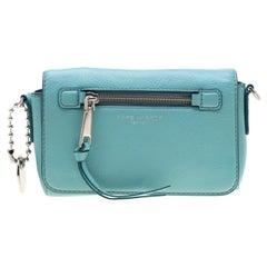 Marc Jacobs Blue Leather Recruit Crossbody Bag