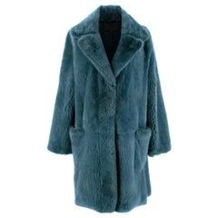 Marc Jacobs Blue Mink Fur Coat - Size 6/S