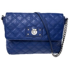 Marc Jacobs Blue Quilted Leather Day to Night Single Shoulder Bag