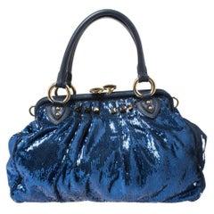 Marc Jacobs Blue Sequin New York Rocker Stam Shoulder Bag