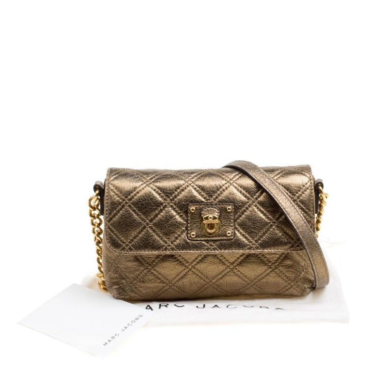 Marc Jacobs Bronze Quilted Leather Day To Night Single Crossbody Bag For Sale 6