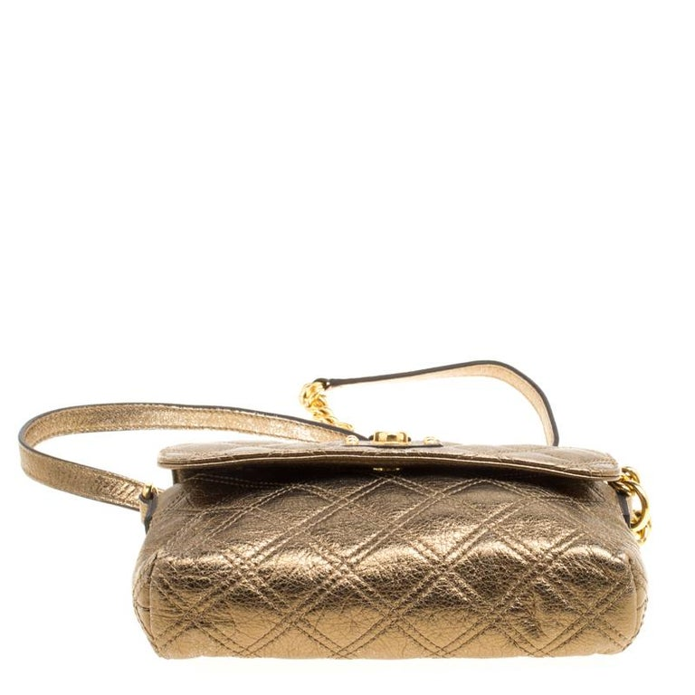 Marc Jacobs Bronze Quilted Leather Day To Night Single Crossbody Bag For Sale 3