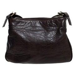 Marc Jacobs Brown Leather Front Pocket Shoulder Bag