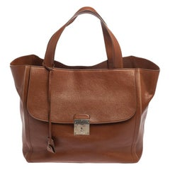 Marc Jacobs Brown Leather Front Pocket Tote