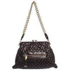Marc Jacobs Burgundy Quilted Leather Stam Shoulder Bag