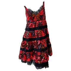 Marc Jacobs Collection Sequin Black Babydoll Dress