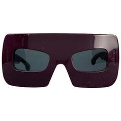 MARC JACOBS F/W 2008 Purple Acetate MASK Sunglasses