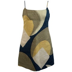 Marc Jacobs Geometric Cotton and Silk Mini Dress Size 6