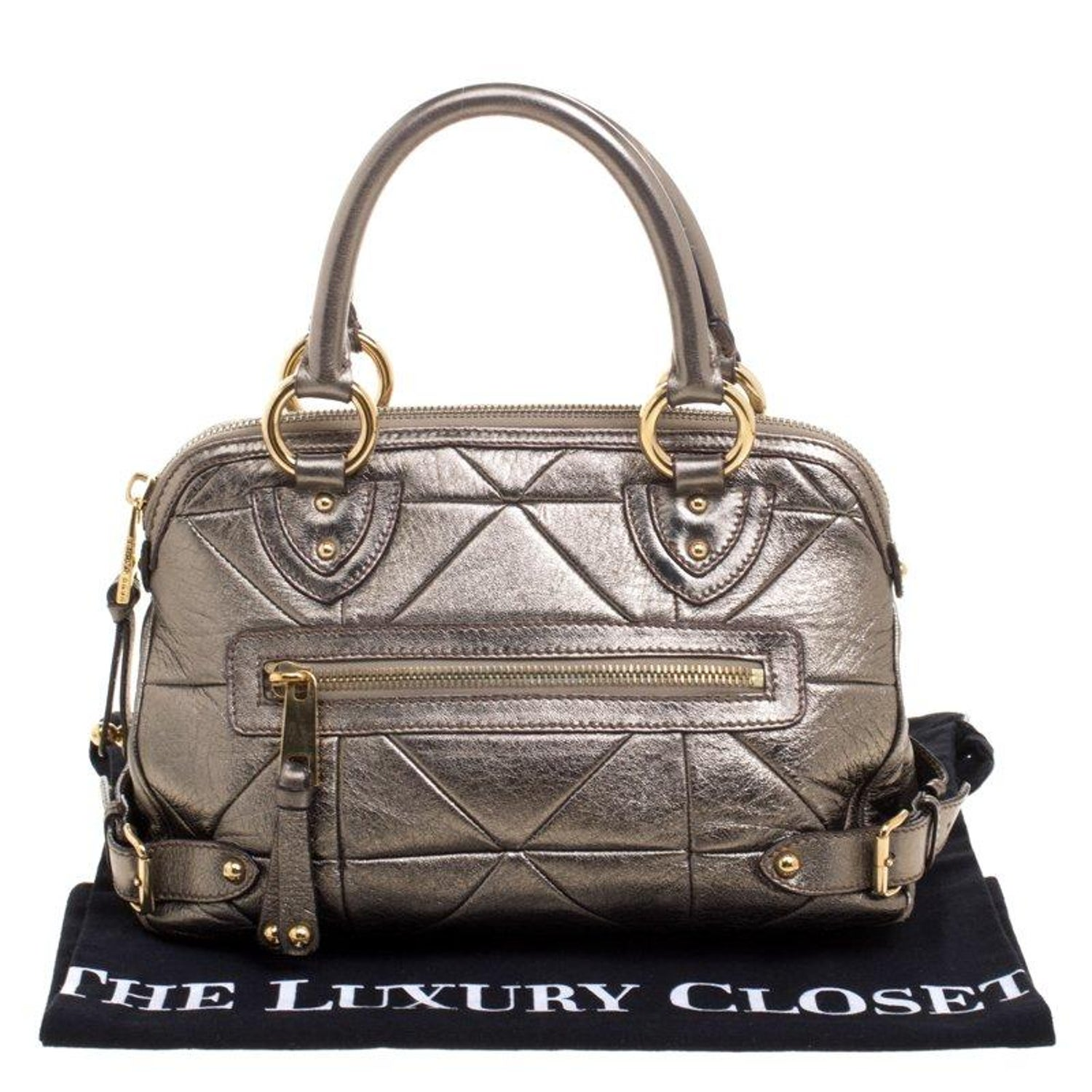 e2e59c4af264 Marc Jacobs Gold Quilted Leather Satchel For Sale at 1stdibs