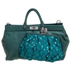 Marc Jacobs Green Leather Robert Duffy Bag on Bag Shoulder Bag