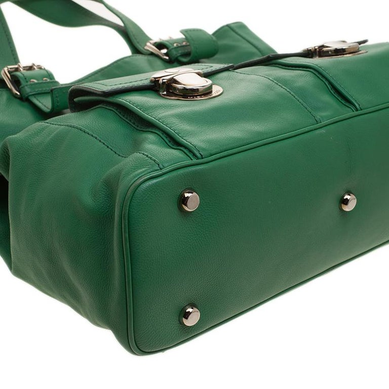 36e51d78de Marc Jacobs Green Leather Stella Tote For Sale at 1stdibs