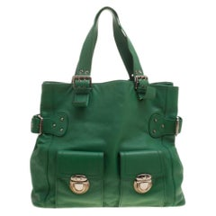 Marc Jacobs Green Leather Stella Tote