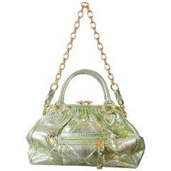 Marc Jacobs Limited Edition Green Snakeskin Stam Bag