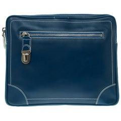 Marc Jacobs Matte Blue Leather The Venetia Ipad Case