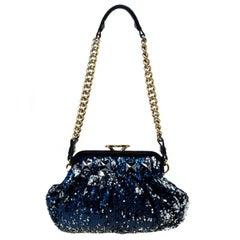 Marc Jacobs Metallic Blue Sequin Little Stam Bag
